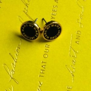 Marc By Marc Jacobs Jewelry - Marc by Marc Jacobs Black and Gold Studs
